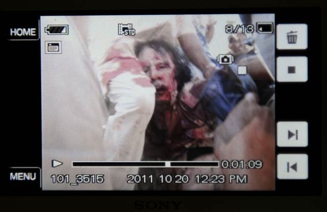 Gaddafi killing images