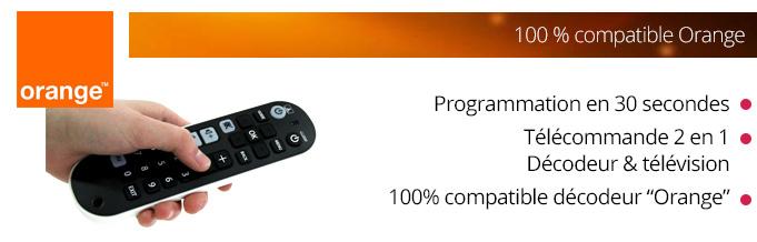 telecommande universelle tv orange
