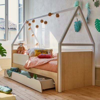 lit cabane noe avec tiroir de rangement camif edition