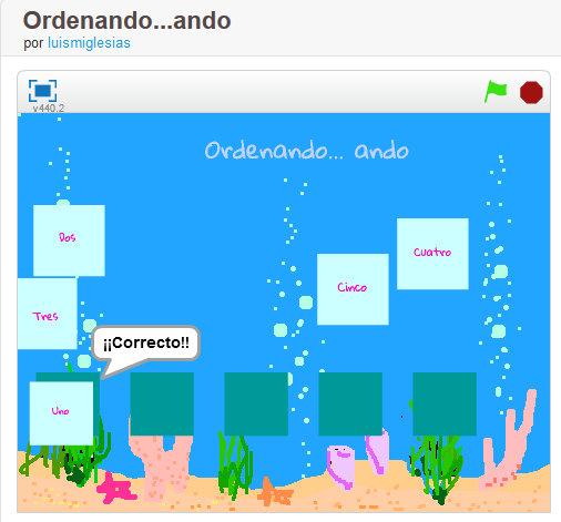 Ordenando…ando. Series lógicas con #Scratch