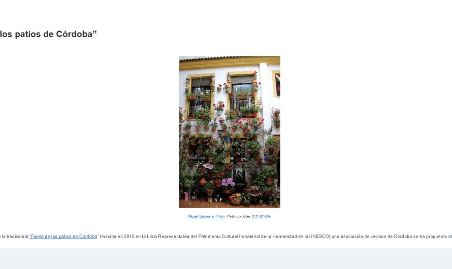 """Tarea: Matemáticas en la """"Fiesta de los patios de Córdoba"""" #STEM #STEAM"""