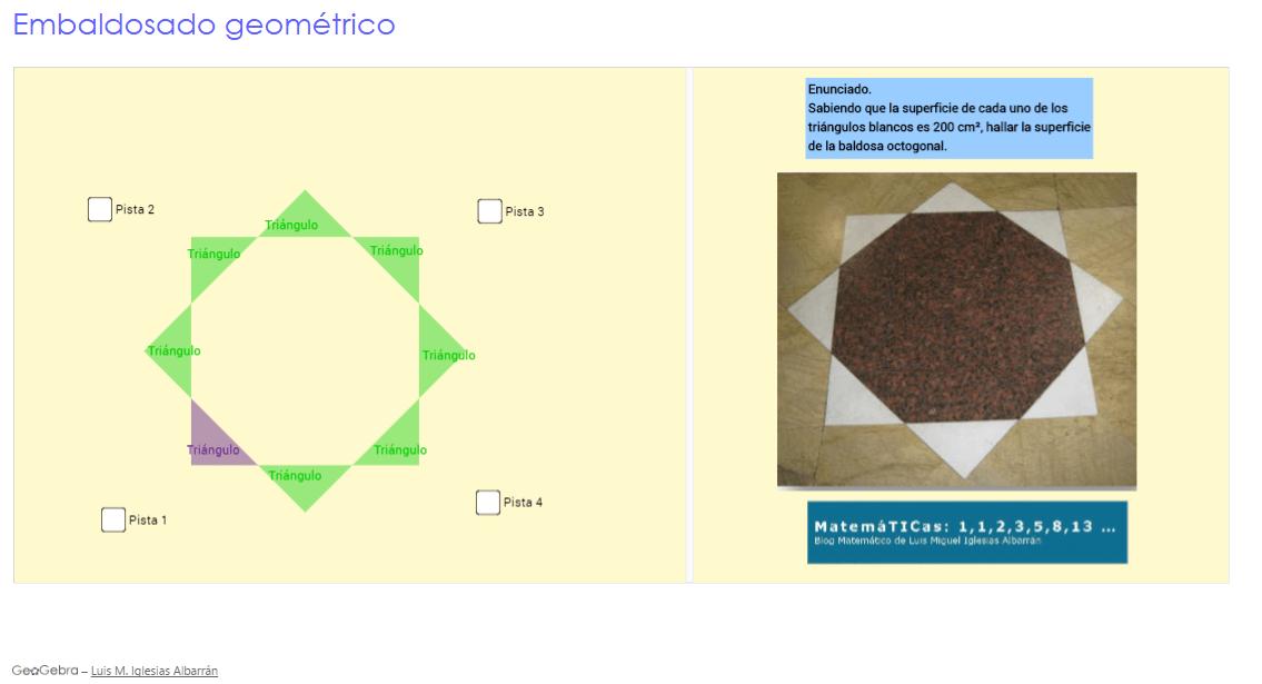 Tarea STEM.Modelización matemática con Geogebra de @luismiglesias ...