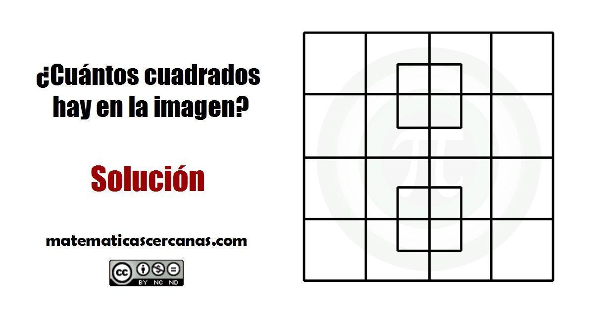 SOLUCION ¿Cuántos cuadrados hay dibujados en la imagen?