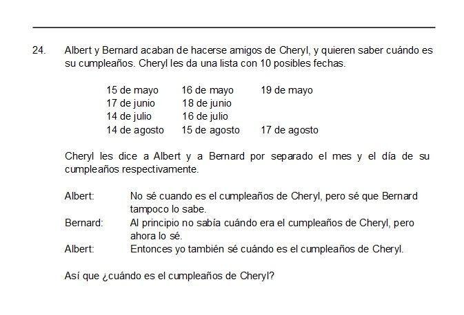 Cumpleaños de Cheryl