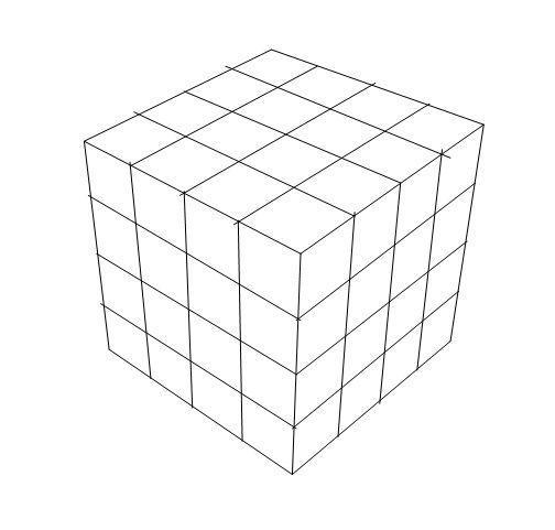 Vemos la soluci n al problema de los cubos pintados for Cubo de luz para jardin