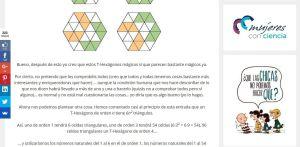 La web Mujeres con ciencia en matematicascercanas.com