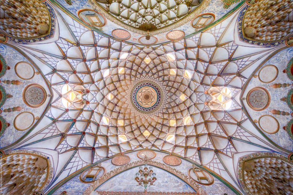 Ceiling of Borujerdiha house, Kashan