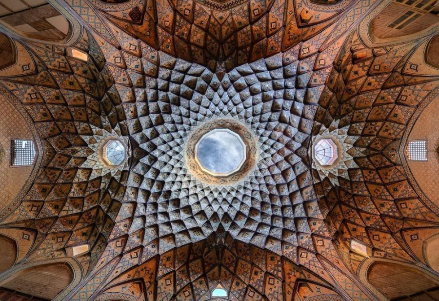 Ceiling of Timche-ye Amin od-Dowleh, Bazaar of Kashan