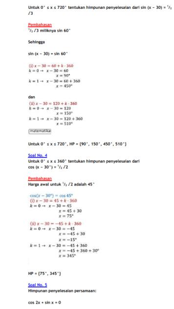 Rumus Persamaan Trigonometri : rumus, persamaan, trigonometri, Rumus, Persamaan, Trigonometri, Contoh, MATEMATIKASIK