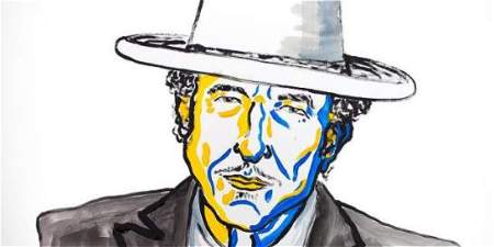 Foto por: Twitter: @NobelPrize Bob Dylan es autor de canciones como The Times They Are A-Changin'.