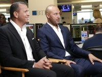 Modal Trigger ESPN host: Jeter 'beside himself angry' over interview with A-Rod Alex Rodriguez and Derek Jeter are interviewed by CNBC's Bob Pisani at a charity event on May 2.