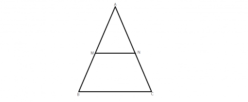 cum folosim linia mijlocie intr-un triunghi