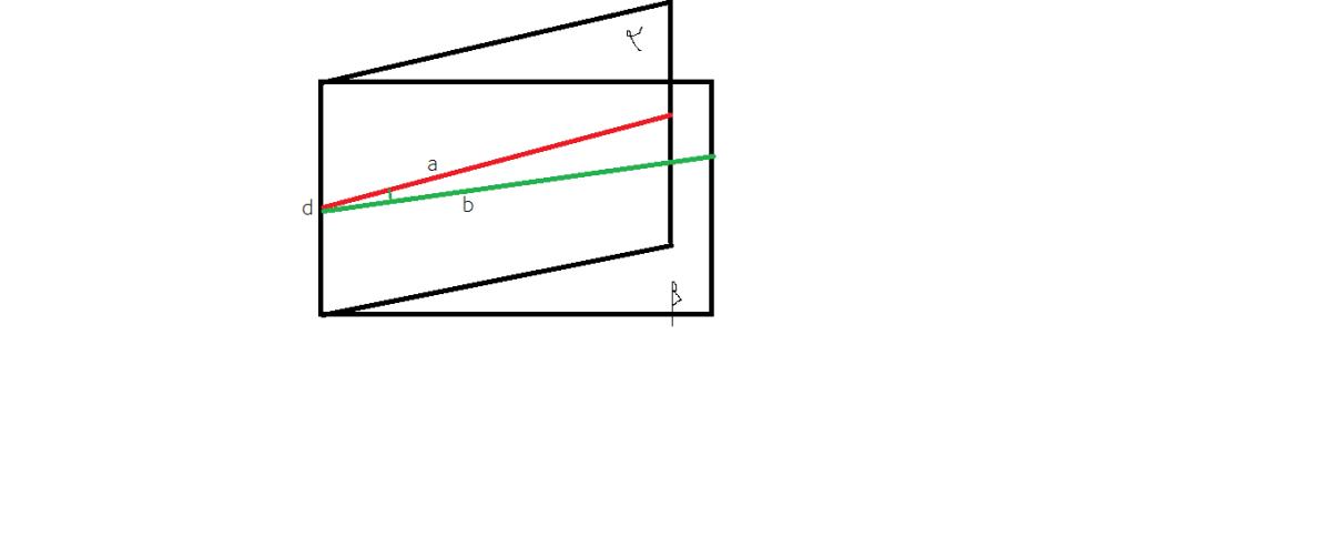 cum calculam unghiul plan asociat unghiului diedru