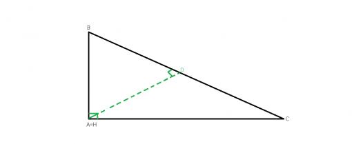 Care sunt inaltimile intr-un triunghi dreptunghic?