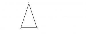 triunghiul isoscel