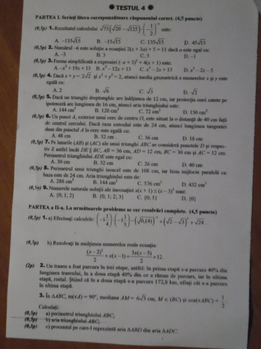 probleme rezolvate pentru clasa a viii a