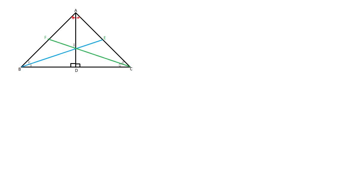 bisectoarea unui unghi intr-un triunghi