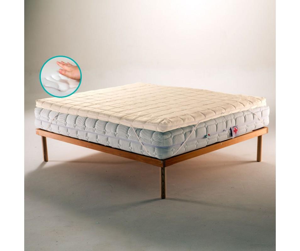 Memory foam strato superficiale spessore 6 cm; Topper Memory Foam Per Materasso Tessuto Anti Microbico Sfoderabile