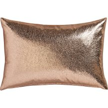 CB2 Rose Gold Throw Pillow