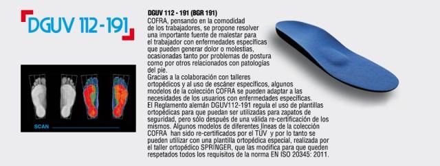Plantilla Cofra DGUV 112-191