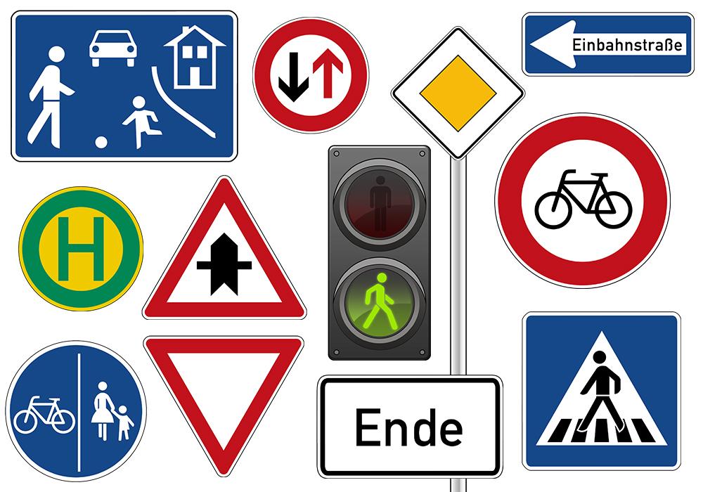Verkehrszeichen Deutschland Materialbörse