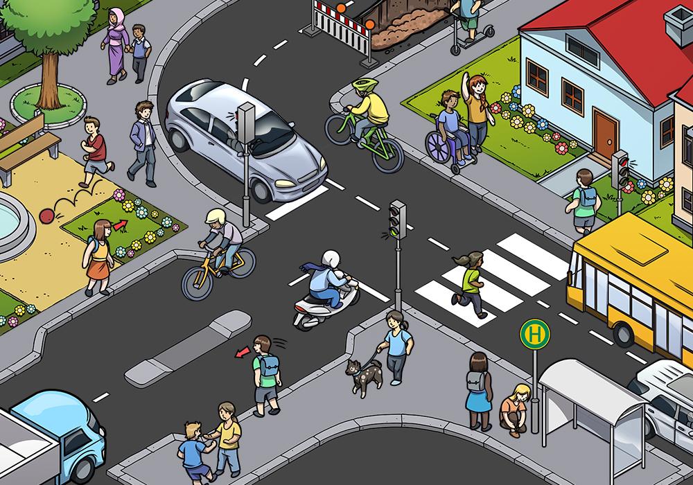 Verkehrserziehung Beispielszenen Individuell