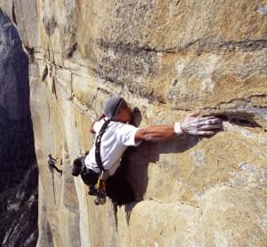 """"""" escaladaores en una gran pared"""