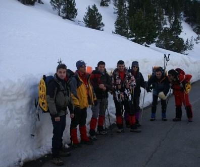 Curso de seguridad en terrenos Nevado Valle del Aneto - Benasque