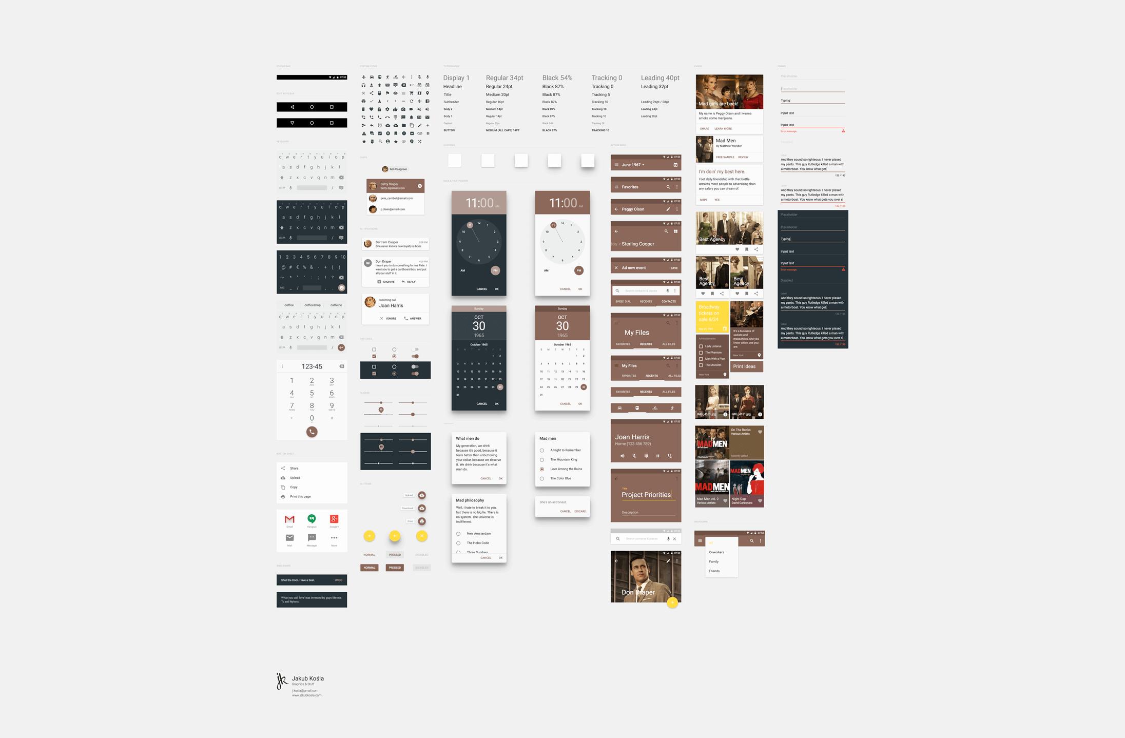 Material-design-UI-PSD