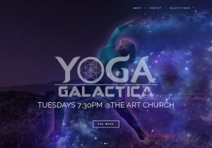 Materialdsign Web Design -Yoga Galactica