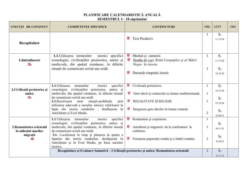 Planificare calendaristică clasa a VIII - a-4