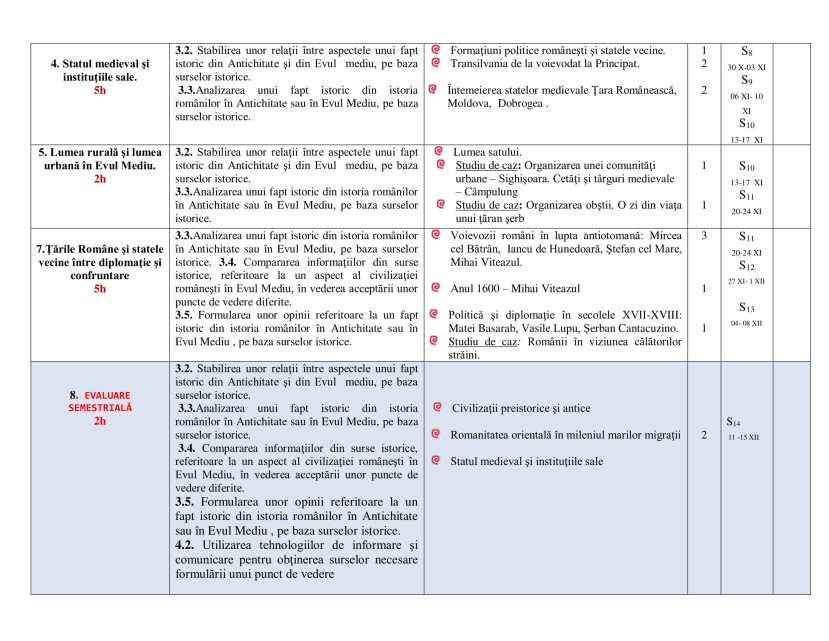 Planificare calendaristică clasa a VIII - a-5