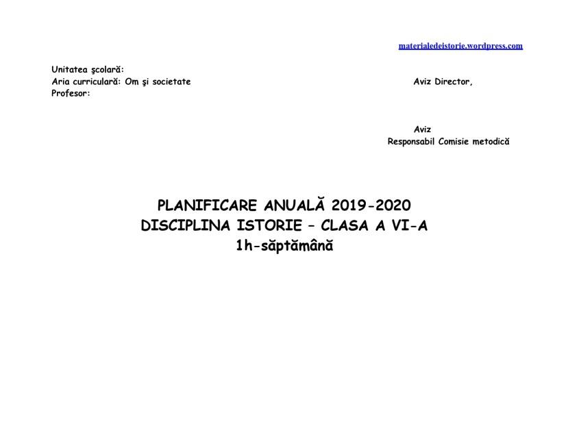 Planificare calendaristică clasa a VI a_page-0001