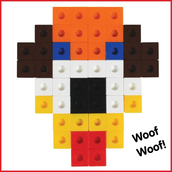 Cuburi colorate asamblabile 100 buc. 7