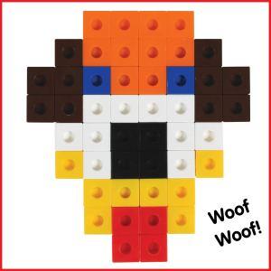 Cuburi colorate asamblabile 100 buc. 25