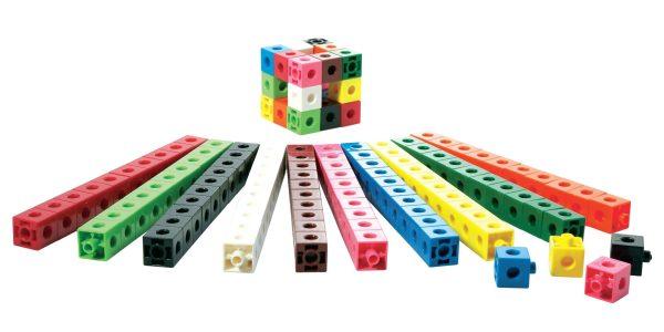 Cuburi colorate asamblabile 100 buc. 14