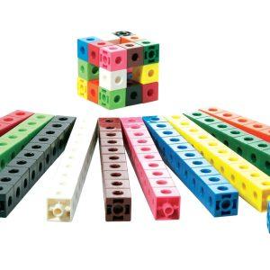 Cuburi colorate asamblabile 100 buc. 32