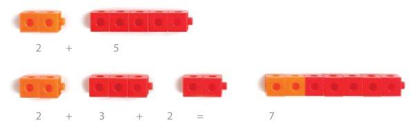 Cuburi colorate asamblabile 100 buc. 12