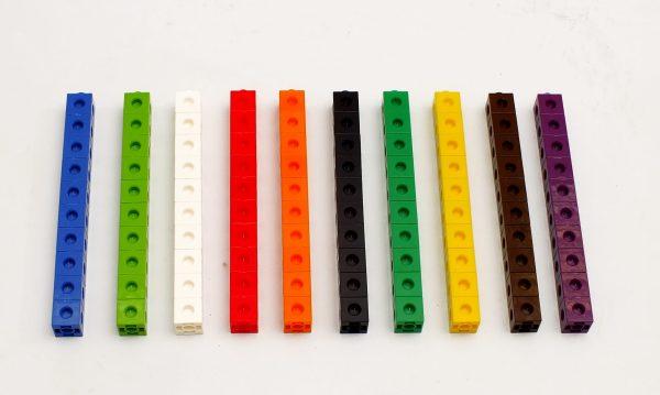 Cuburi colorate asamblabile 100 buc. 18