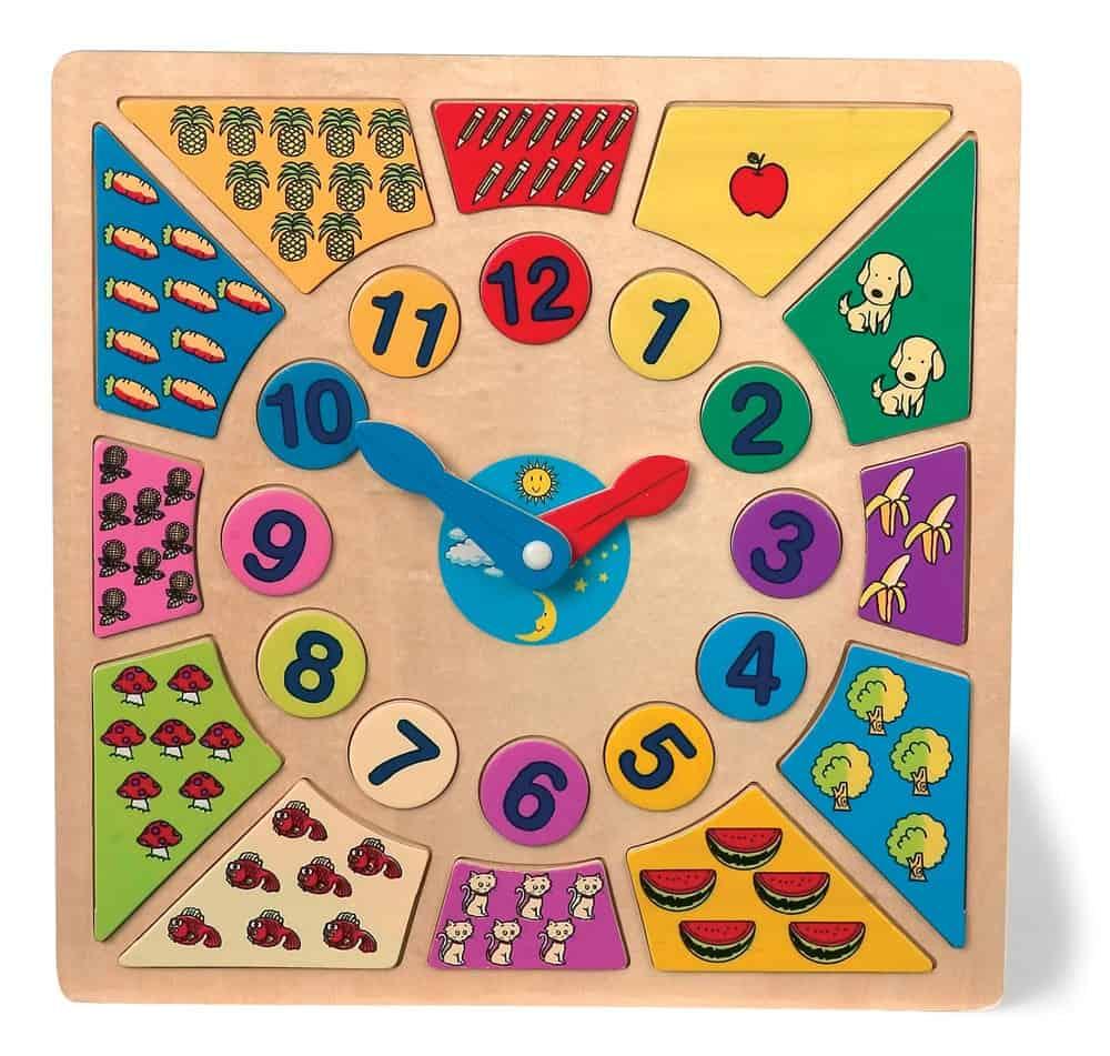Ceas-puzzle, cantitati