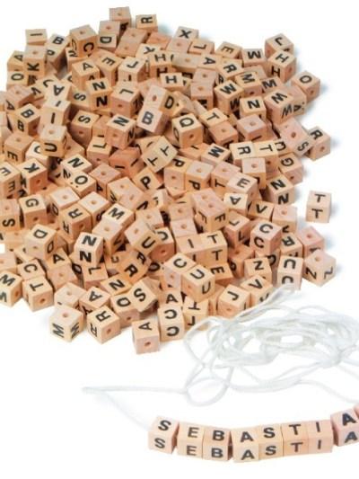 Alfabet, set de litere din lemn
