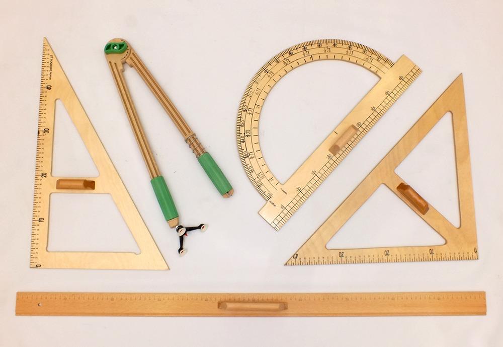 Set instrumente pentru tabla (5 buc.), lemn