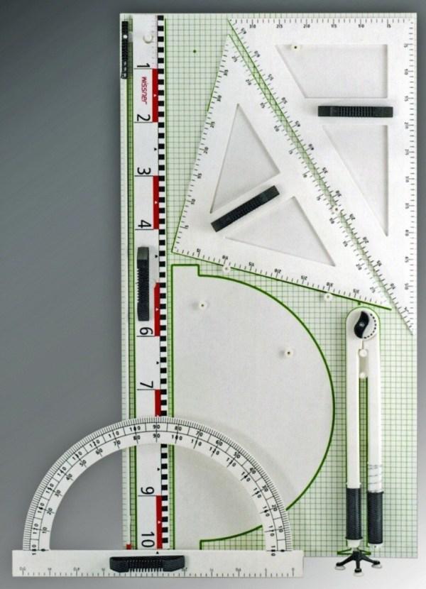 Trusa geometrie pentru tabla scolara III, Re-Plastic° 3