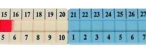 Rigla pentru calcul 1 la 100 12