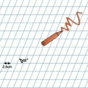 Tabla alba de perete cu linii clasele I - II. 5