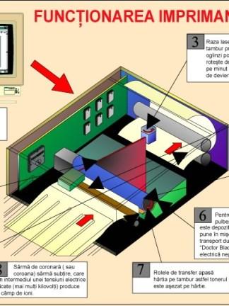 Functionarea imprimantei laser
