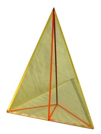 Piramida triunghiulara regulata , cu sectiune pe inaltime
