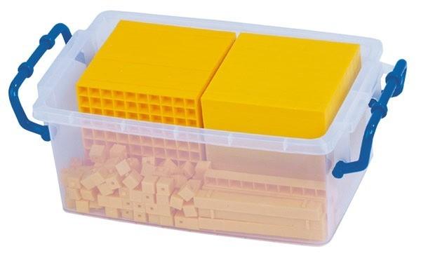 Sistemul zecimal - cuburi baza 10 interconectabile 12