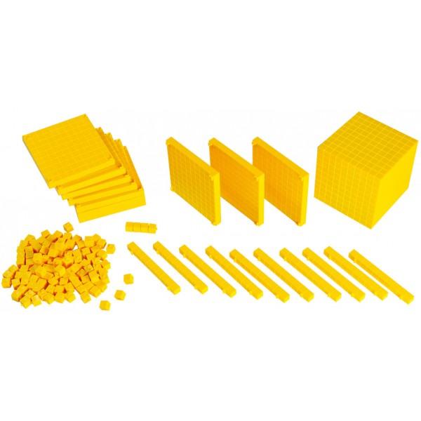Sistemul zecimal - cuburi baza 10 interconectabile 4