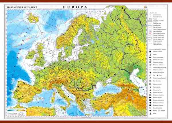 Europa. Harta fizica si politica 3